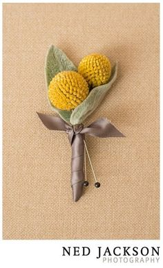Adorable little boutonniere by Ideas in Bloom, LLC on http://WedOverHeels.com   Photo by nedjackson.com