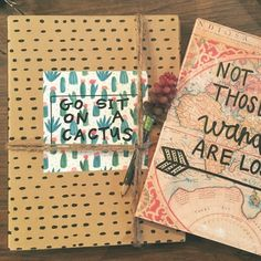 """""""Go Sit On A Cactus"""" Journal Ring binder with ombré paper.  Succulent mini pencil included.  Tooo cute! Meraki-Made Other"""