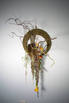 Artist and designer Irene Brockwell :: Gold award in Fusion Flowers International Designer of the Year competition 2014 in the Wall Art section