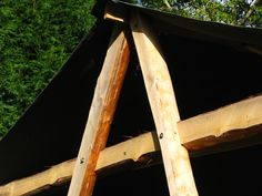 External jointing on a Sweet Chestnut A-Frame