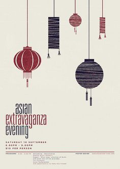 Asian Extravaganza Evening poster by nadameansnothing #design