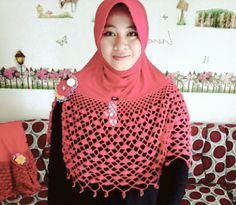 Cute with red Hijabs, Crochet, Blouse, Cute, Red, Tops, Women, Fashion, Bohemian