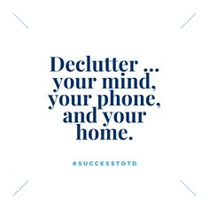 Many times, we attribute the lack of success to not having worked hard enough. However, often the root cause is a lack of focus on what we are purposed to do. Declutter and remove the extra. Clothes you don't wear but touch each time you get dressed (donate them), Apps you don't use (delete them), items on your to-do list that you lightly touch but never complete (archive them). Choose the practices that make sense to you, clearing a path to what's essential. Lack Of Focus, Thought Of The Day, Make Sense, Declutter, Work Hard, Motivational Quotes, Archive, How To Remove, Mindfulness