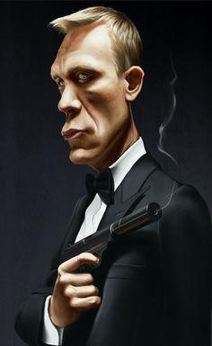 Daniel Craig daniel craig caricature. Jack Dee psdcollector.blogspot.com