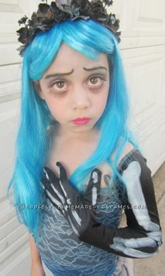 Homemade Corpse Bride Costume for a Girl… Enter Coolest Halloween Costume Contest at http://ideas.coolest-homemade-costumes.com/submit/