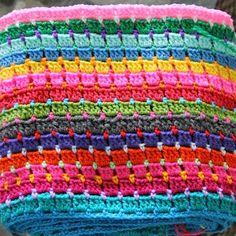 Block Stitch Afghan - Tutorial