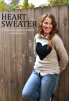Heart sweater tutorial and refashion