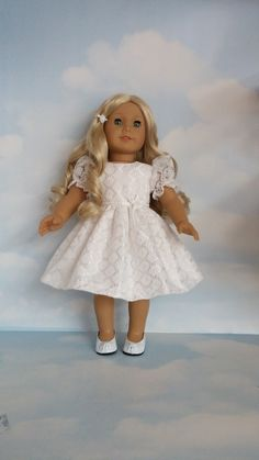 18 inch doll clothes - First Communion Dress handmade to fit the American Girl Doll by susiestitchit on Etsy