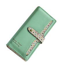 E-Clover Women's Luxury Slim Money Clip Wallet Clutch Card Holder Purse Case Branded Wallets, Money Clip Wallet, Leather Bifold Wallet, Leather Design, Clutch Wallet, Cat Ears, Designing Women, Fashion Brands, Card Holder