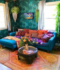 Inspiration for a modern bohemian living room with moroccan style boho decor in lots of neutral hues. Bohemian Living Rooms, Bohemian House, Bohemian Interior, Bohemian Decor, Bohemian Style, Boho Chic, Bohemian Room, Bohemian Gypsy, Hippie Living Room