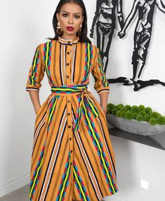 Shop Grass-fields African Print Fashion - African Print Doris Shirt Dress to look effortlessly cool. It's bold and beautiful, perfect for any social occasion! African Fashion Designers, African Fashion Ankara, African Print Fashion, Africa Fashion, African Wear Dresses, African Attire, Ankara Gowns, Ankara Dress, Kente Styles