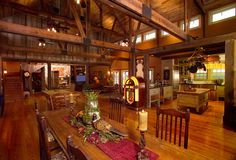 Why I want a barn house.the inside of a typical pole barn house! Converted Barn, Barn Living, Living Rooms, Pole Barn Homes, Loft, The Ranch, My Dream Home, Dream Barn, Dream Homes