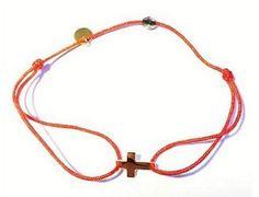 Bracelet fil Croix Or