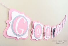 Pink and Silver God Bless Banner Add A Name Cross Baptism Christening Garland by AshleyAnnaMarie on Etsy https://www.etsy.com/listing/271323828/pink-and-silver-god-bless-banner-add-a