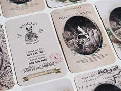 Anomali Vintage Playing Card Business Card