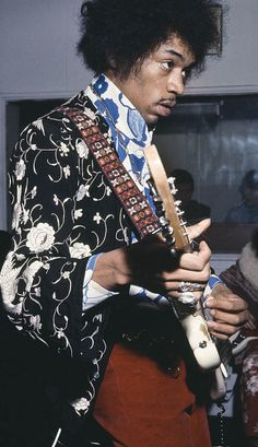 Jimi Hendrix in the studio, October 1967, by Bruce Fleming