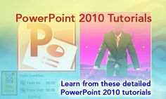 This page contains a listing of all the content we have created for #PowerPoint 2010 - you will find detailed pages on each new feature introduced in this version – and also tutorials on all other features.