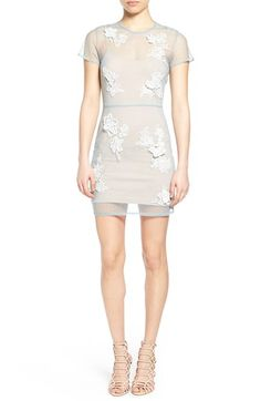 Lovers + Friends 'Bianca' Mesh Overlay Body-Con Dress
