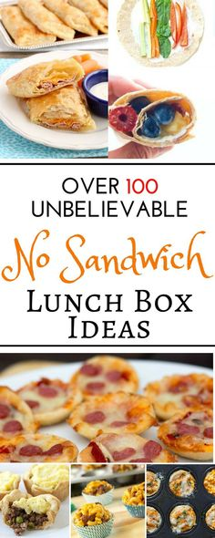 Over 100 easy recipes and school lunch ideas for kids and for teens! These cold no sandwich bento box recipes are perfect for picky eaters. With all these ideas for toddlers, for adults, and even for teenagers you are sure to please everyone in the family