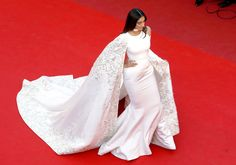 Sonam Kapoor in an Embroidered White Cape Dress, 2016 - The Most Daring Dresses on the Cannes Red Carpet - Photos