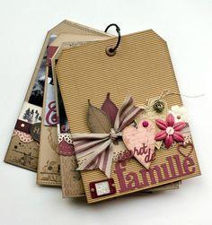 """Mini album une famille en hiver de Patmiaou avec la nouvelle collection de FD: """"un doux matin d'hiver""""...Mini fait avec des tags de 20x15cm: http://patmiaou.canalblog.com/archives/2014/10/05/30713210.html"""