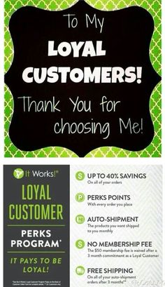Thank you to my recent 5 loyal customers this past week. Thank you, thank you, thank you!! We are on this journey together. If anyone else is interested, let me know. I'll get you started. ashley-mills.myitworks.com