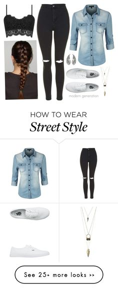 """sch 5"" by modern-generation on Polyvore featuring LE3NO, Topshop, Vans and Charlotte Russe"