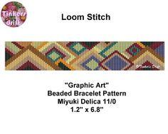 Graphic Art Loom Beaded Bracelet Pattern