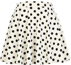 #River Island             #Skirt                    #Black #white #polka #skater #skirt                 Black and white polka dot skater skirt                                        http://www.seapai.com/product.aspx?PID=229408