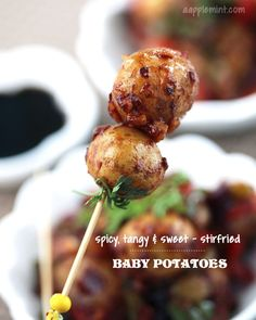 Spicy, Tangy & Sweet - Baby Potatoes