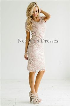 Champagne Pink Lace Modest Bridesmaids Dress, Church Dresses, dresses for church, modest bridesmaids dresses, trendy modest, modest skirt, modest shirts, cute modest dresses, modest church dresses, mikarose, trendy boutique