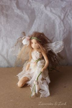 Lir  Lily of the Valley Flower Fairy OOAK Art by Phoebecapelle