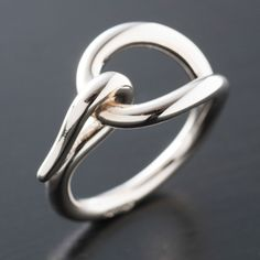 Hermes Scarf Ring In Silver Tone