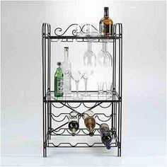 Concept Housewares Bottle & Glass Floor Wine Rack