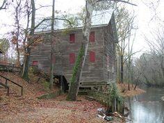 Kymulga Grist Mill on Talladega Creek built 1854. Located in Talladega County, AL.