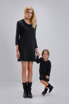 MATCHING LONG SLEEVE BOX DRESSES