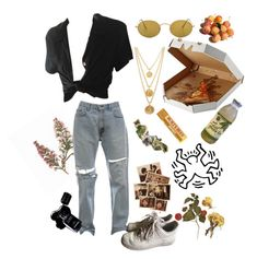 """have I actually make it in ny"" by nchalamet ❤ liked on Polyvore featuring art"
