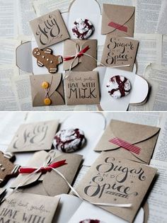 Cookie Envelope for gifting your favorite cookies ... Template (3 Designs)
