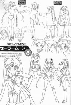 Sailor Moon Model Sheet ★ || CHARACTER DESIGN REFERENCES | キャラクターデザイン  • Find more artworks at https://www.facebook.com/CharacterDesignReferences & http://www.pinterest.com/characterdesigh and learn how to draw: #concept #art #animation #anime #comics || ★
