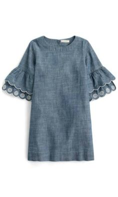 crewcuts chambray dress with bell sleeves for toddlers this spring #spring #affiliate
