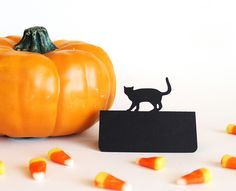 Cat Place Cards, $12.50 (http://www.tiffzippy.com/cat-place-cards/) #Halloween #blackcat