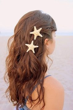 beach hair, for the flower girls: beach wedding - needs a little touch of bling