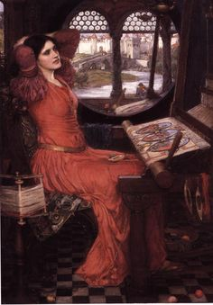 """I Am Half-Sick of Shadows,"" Said the Lady of Shalott. John William Waterhouse. 1915. Like the PRB, John William Waterhouse had a predilection for depicting the themes of love unrequited or frustrated by the fates, such as the embowered and cursed Lady of Shalott. In this work, the first of Waterhouse's three versions of the subject, he depicts the Lady of Shalott at the moment when she sees the ""young lovers lately wed"" and becomes dissatisfied with her isolated life in the tower. The first ..."