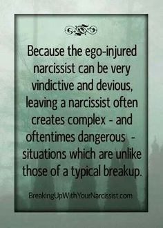 Dangerous.  Narcissistic sociopath relationship abuse