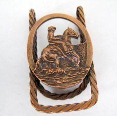 Western Copper Money Clip Cowboy Horse by VintagObsessions on Etsy #vogueteam #etsygift