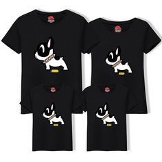 2019 Cotton Father Son t Shirt Matching Family Outfits Mom Dad Big Size Tee Cartoon Dog Cotton Clothing Matching Family Tops Cartoon Dog, Matching Family Outfits, Mother And Father, Dog Shirt, Mom And Dad, Sons, Big, Casual, Cotton