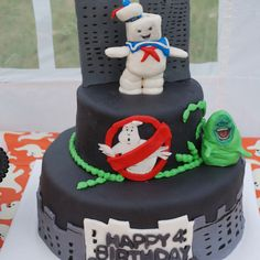 Ghostbusters Cake, omg i love this cake
