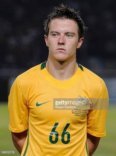 Scott Jamieson of Australia is seen prior to the AFC Asian Cup 2011 Qualification match between Indonesia and Australia held at Gelora Bung Karno...