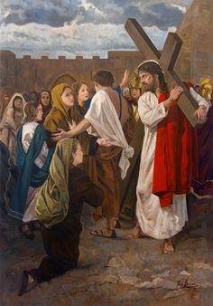 Jesus meets the Women of Jerusalem / Jesús se encuentra con las mujeres de Jerusalén // 2017 // Raúl Berzosa // VIII Estación de Vía Crucis para Guatemala // #Christ #ViaCrucis #HolyWeek
