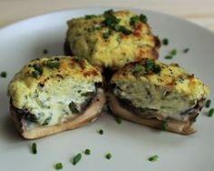 Champignons de Paris Farcis au Tartare Salmon Burgers, Baked Potato, Parmesan, Potatoes, Baking, Appetizers, Ethnic Recipes, C'est Bon, Bouquet